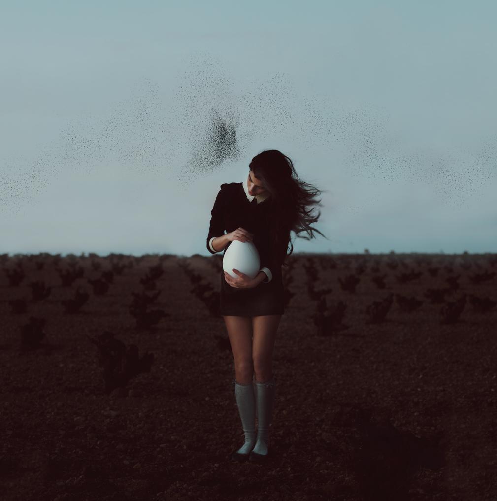 Rebeca Cygnus fotografía conceptual arte conceptual espacio nuca  artista arte