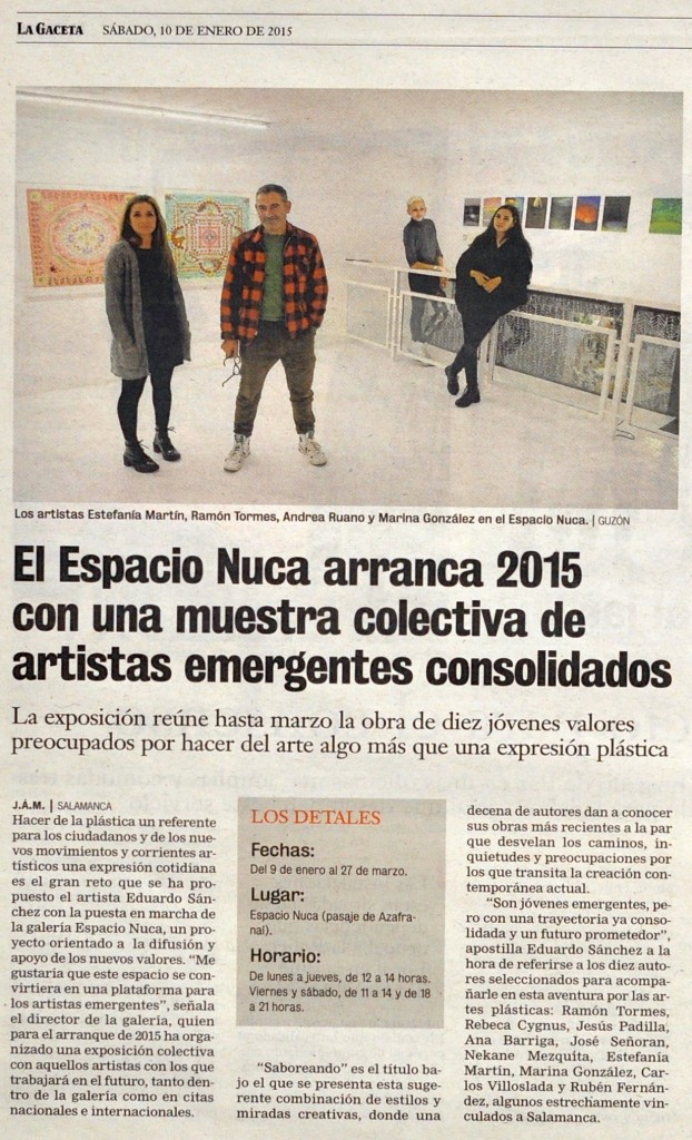 Saboreando artistas galería exposición Espacio Nuca Eduardo Nuca arte plástico Salamanca La Gaceta