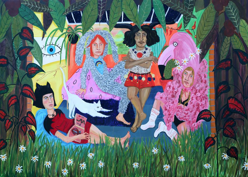 alejandra hernández pintura dibujo artista espacio nuca eduardo nuca
